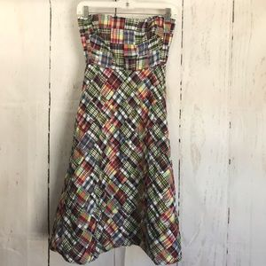 J. CREW strapless patchwork dress